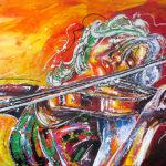 Acryl op doek<br /> 140 x 80 cm<br /> <strong>Verkocht</strong>