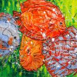Acryl op doek<br /> 150 x 100 cm<br /> <strong>Verkocht</strong>