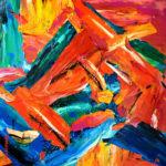Acryl op doek<br /> 100 x 100 cm<br /> <strong>Te koop</strong>